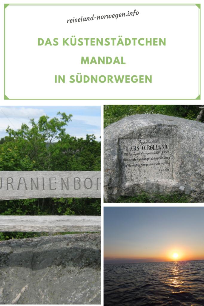 Das-Küstenstädtchen-Mandal in Südnorwegen